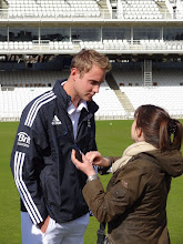 Photo: Before the pictures start, bit of make up for Broady...