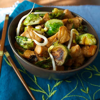Pork and Brussels Sprout Stir Fry and a Giveaway!.