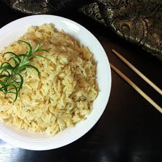 Lemon Garlic Rice With Rosemary.