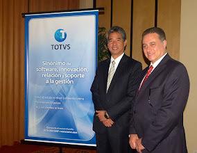 Photo: Héctor Chang, Director de TOTVS, y Vicente Credidio, Director de Atención y Relación de TOTVS.