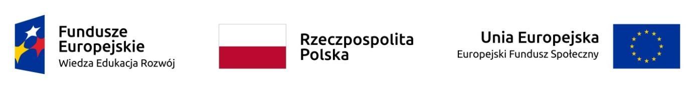 Zestawienie znaków Fundusze Europejskie Rzeczypospolita Polska Unia Europejska