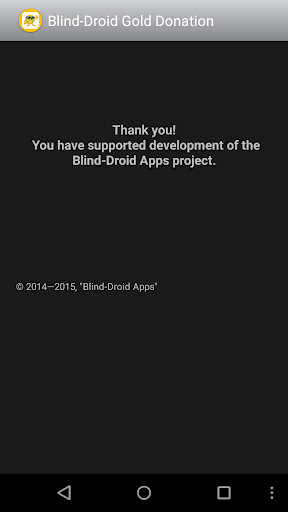 Blind-Droid Gold Donation