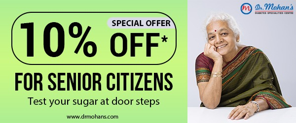 Dr. Mohan's Offer : 10% discount for SENIOR CITIZENS at Dr. Mohan's.
