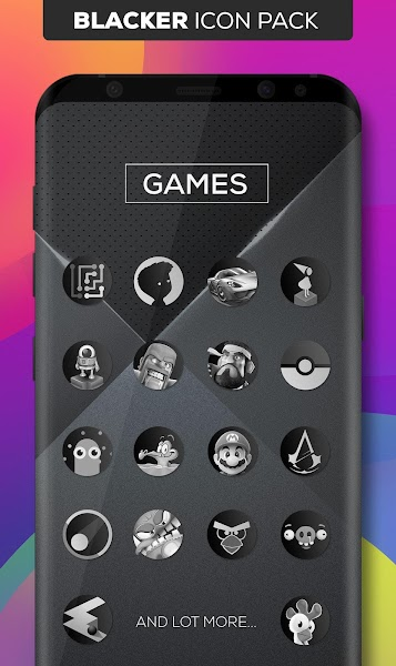 Blacker : Icon Pack Screenshot Image