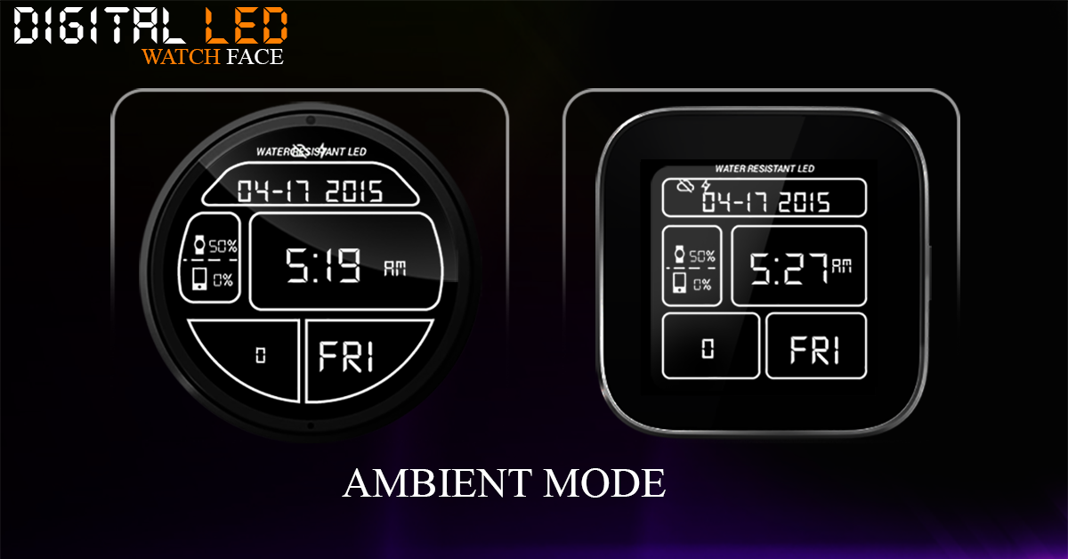 Digital LED Watch Face- screenshot
