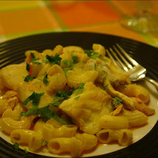 Pasta Served with Three Fishes Recipe