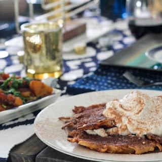 Mexican Chocolate Latkes with Cinnamon Whipped Cream and Wayfair Hanukkah! Recipe
