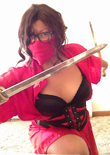 Photo: Hi-ya! This ninja girl is ready for some action!