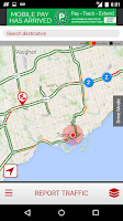 Screenshot of CP24 Traffic Alert