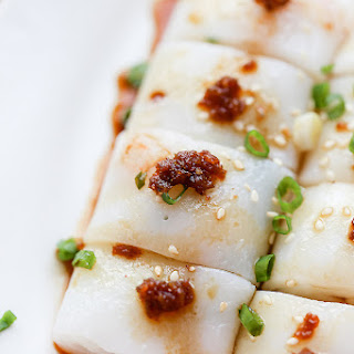Cheung Fun (steamed rice noodles).