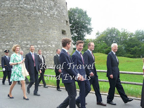 Photo: in front Prince Nikolaus, Prince Georg,. Prince Joseph Wenzel and Prince Nikolaus followed by Hereditary Prince Alois and Hereditary Princess Sophie