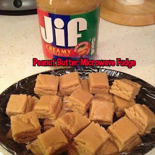 Peanut Butter Microwave Fudge.