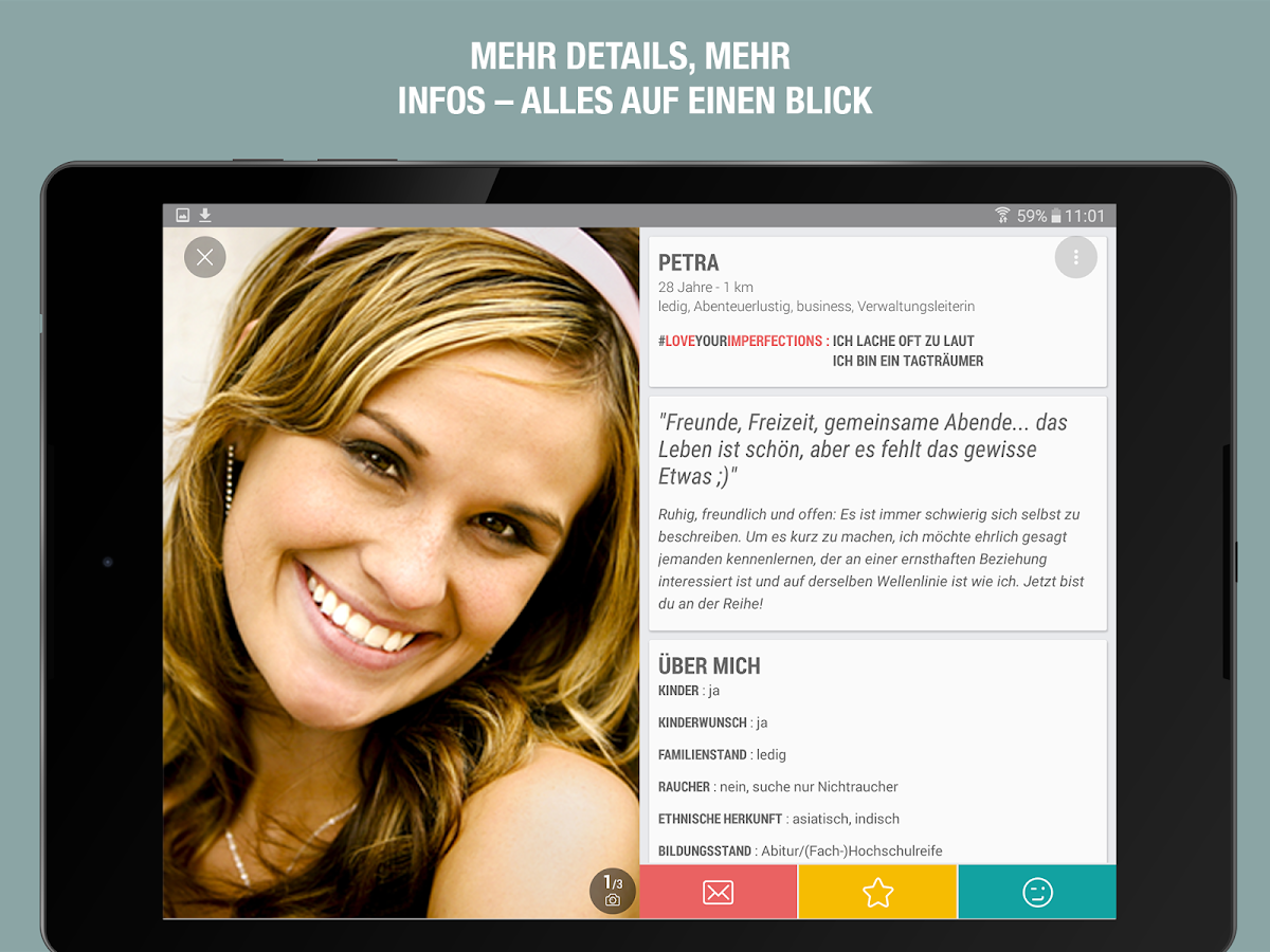 NEU.DE – Partnersuche App- screenshot