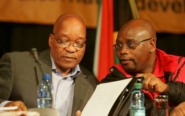 President Jacob Zuma with Cosatu president Sdumo Dlamini. Zuma's inability to choose where government stood on key economic issues led to an era of confusion at the top. Picture: SOWETAN