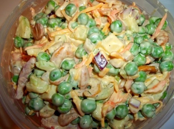 In another small bowl; mix dressing ingredients...adjust seasoning to your own taste if needed.  Stir...