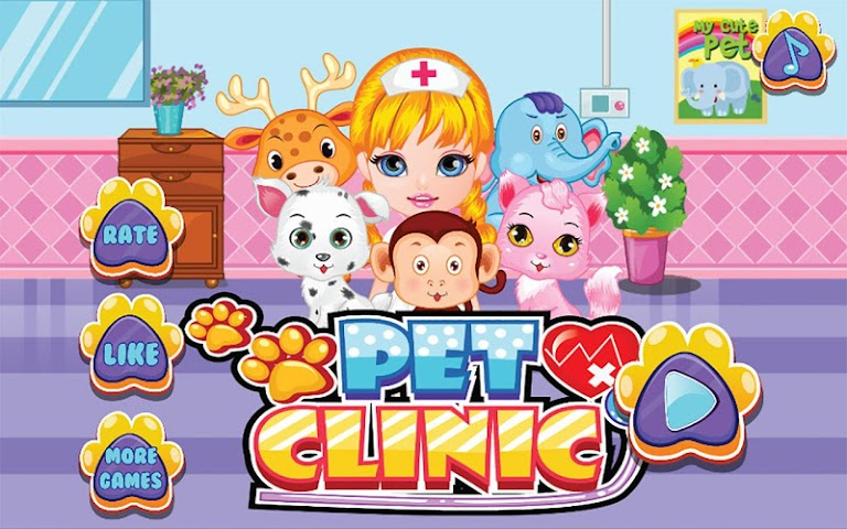android Pets Clinic - Kids Doctor game Screenshot 0