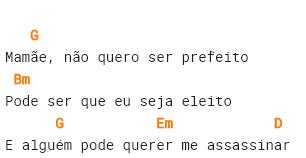 Cifrado de la canción Cowboy Fora da Lei, del músico brasileño Raul Seixas