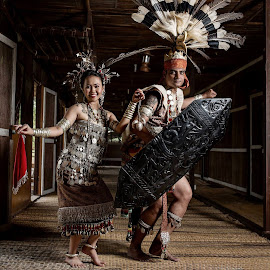 by Eddy Watt - Wedding Bride & Groom ( traditional costume, wedding photography )