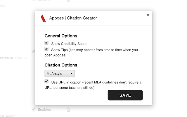apogee citation creator chrome web store