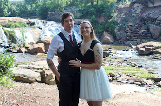 Photo: Lesbian Wedding Ceremony Falls Park Greenville, SC http://WeddingWoman.net