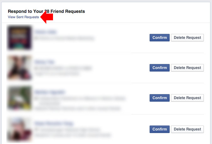 how to check who ignored your friend request step 2