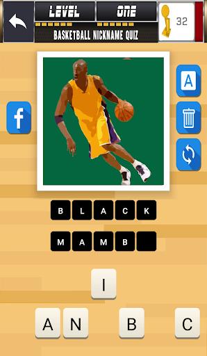 玩免費益智APP|下載Basketball nickname quiz app不用錢|硬是要APP