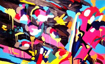 """Photo: Тадеуш Жаховский """"Летаем. Flying"""", Title: Flying! / Летаем! 100x165 Artist:Tadeush Zhakhovskyy / Тадеуш Жаховский Medium: Acrylic on Canvas/ Холст, Акрил. In private collection. О наличии картины просьба контактировать галерею. Также предлагается напечатанная на холсте репродукция этой картины в любом размере."""