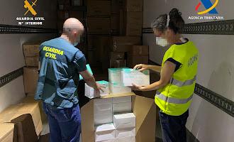 La Guardia Civil interviene más de un millón de mascarillas
