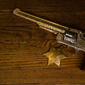 Wyatt Earp Marshall Star and 1874 Schofield .44 Smith and Wesson revolver by Florin Marksteiner - Artistic Objects Antiques ( schofield, guns, cowboy, sheriff, star, wyatt earp, marshall, smith and wesson, badge, outlaw, revolver, wild west,  )