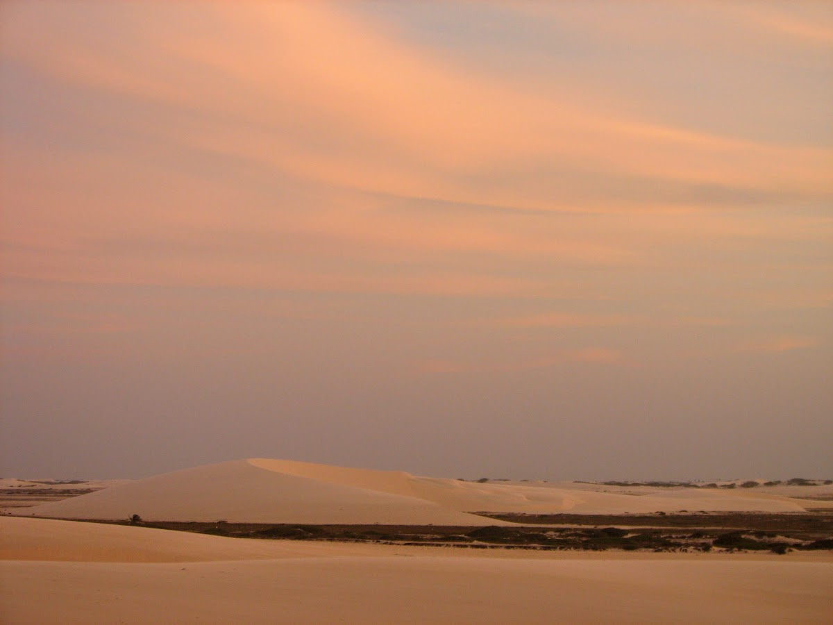 Sunset over the Sand Dunes