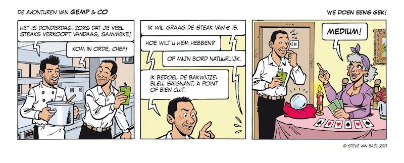 De Avonturen van Gemp & Co - Monthly gag by Steve Van Bael