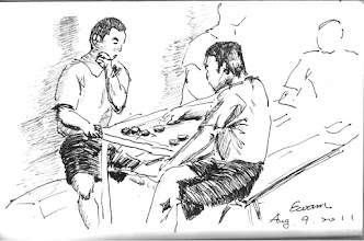 Photo: 對奕2011.08.09鋼筆 在出監之前,這盤棋要一直玩下去!