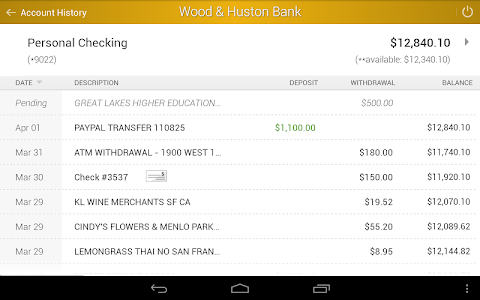 Wood & Huston Bank screenshot 7