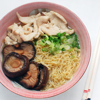 Wonton Noodle Soup with Chicken and Shiitakes Recipe