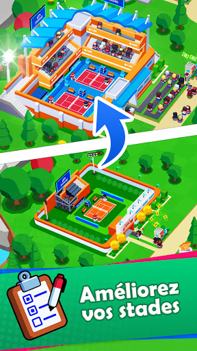 Sports City Tycoon Game - Créez un empire sportif APK MOD (Astuce) screenshots 3