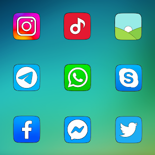 Miui Carbon - Icon Pack Screenshot
