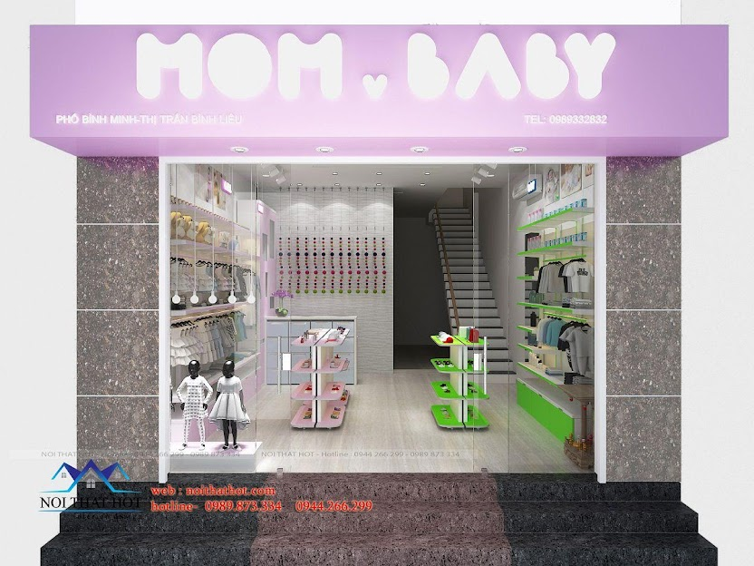 thiết kế shop thời trang trẻ em 1