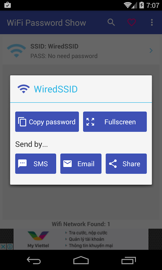 Wifi Password Show- screenshot
