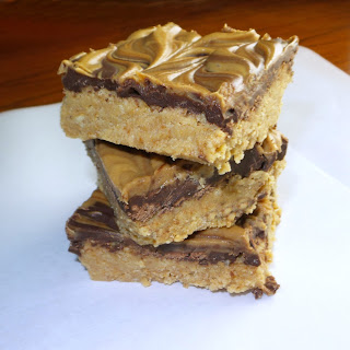 No Bake Peanut Butter Swirl Bars