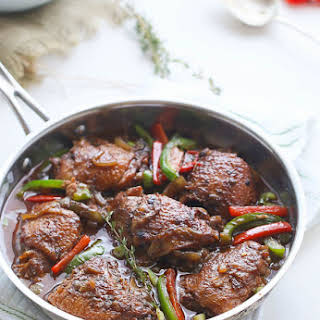 Slow Cooker Jamaican Brown Stew Chicken.