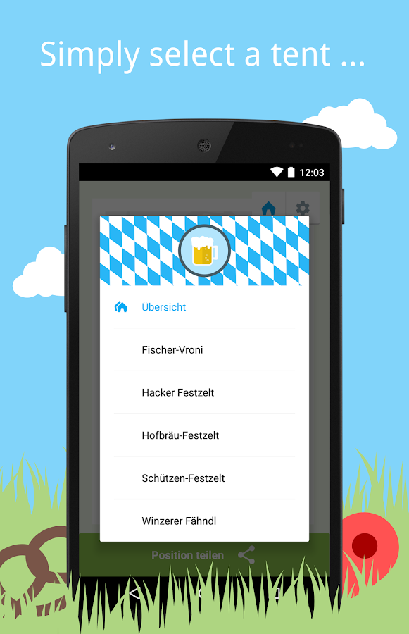 Wiesn FindMe- screenshot