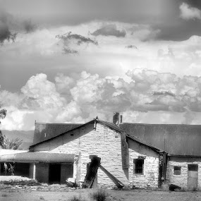 forgotten by Gerhard Conradie - Buildings & Architecture Homes ( clouds, old, building )