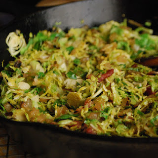 Sweet and Sour Brussels Sprouts Hash.