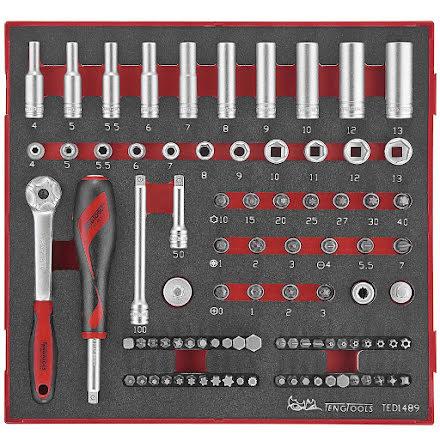 Hylsnyckelsats Teng Tools TED1489