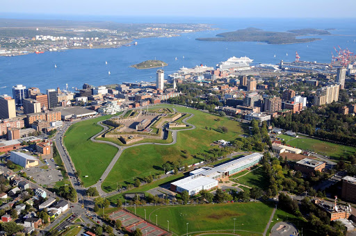Halifax-downtown-aerial.jpg - An aerial shot of downtown Halifax, Nova Scotia, and the surrounding bay.