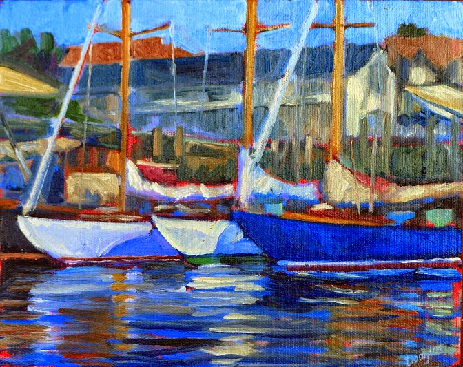 Photo: Before the Eggemoggin Reach Regatta Oil on canvas 12X16