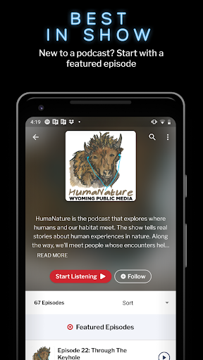 RadioPublic: Free Podcast App For Android ss3
