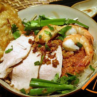 Hu Tieu Nam Vang (Vietnamese Shrimp and Pork Chop Noodle Soup recipe).
