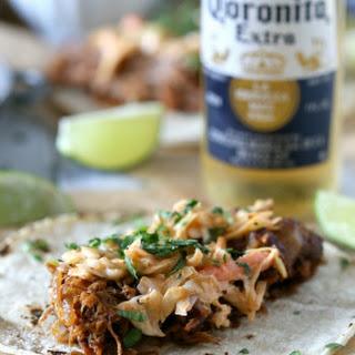 Ginger Beer Pulled Pork Tacos.