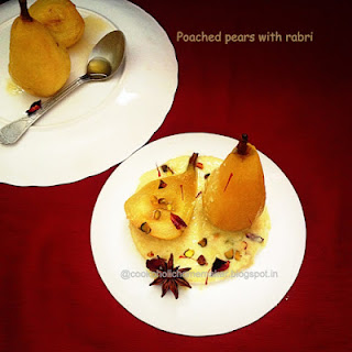 Poached Pears With Kesari Rabri